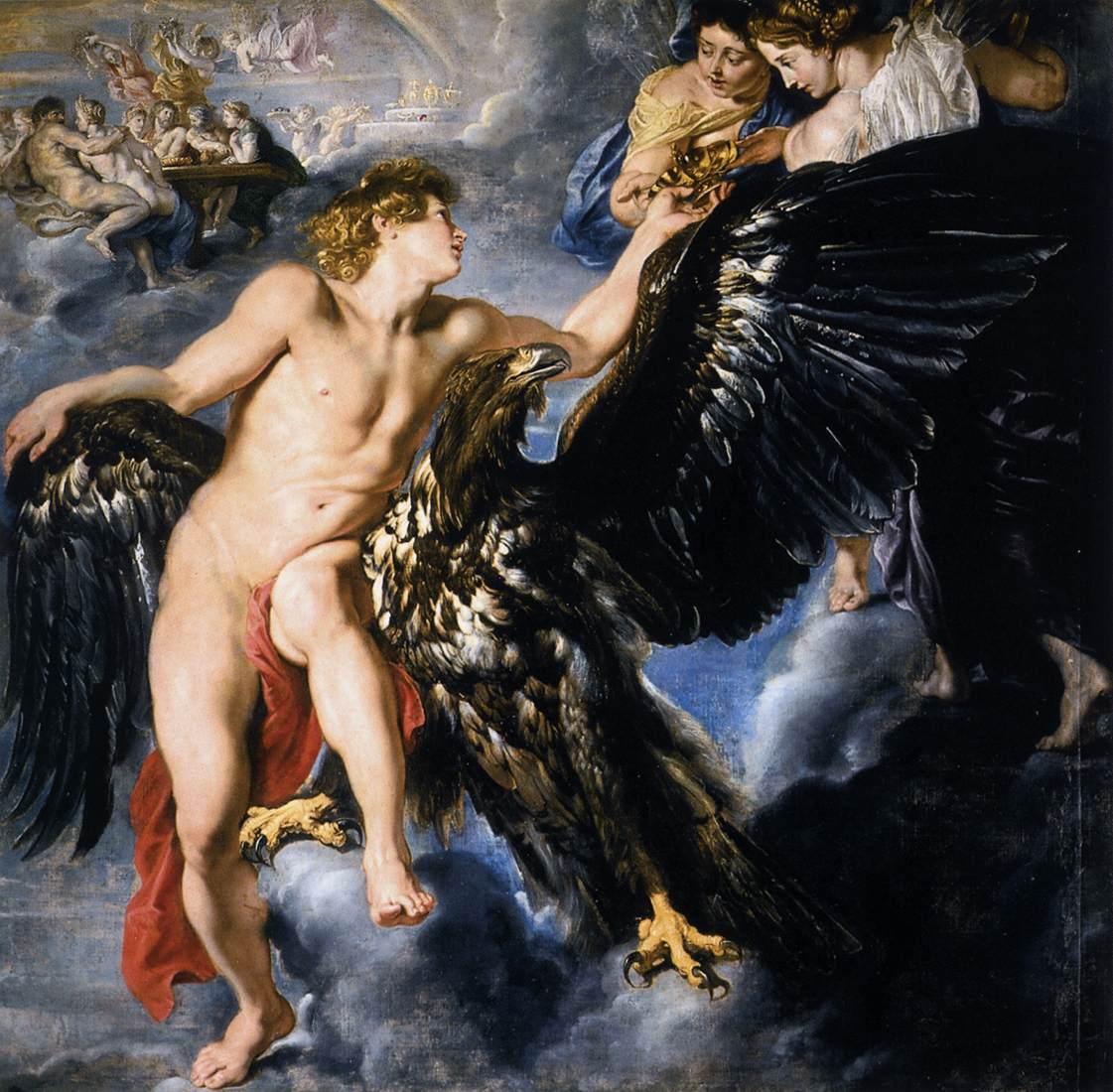 Tableau Le Rapt de Ganymède
