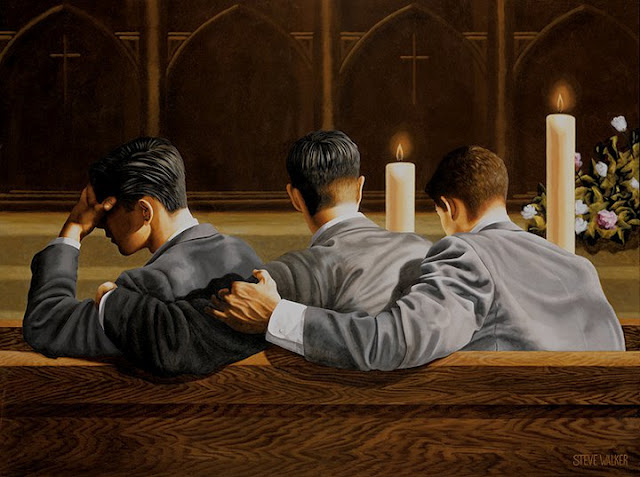 "Toile ""Requiem"" de Steve Walker"