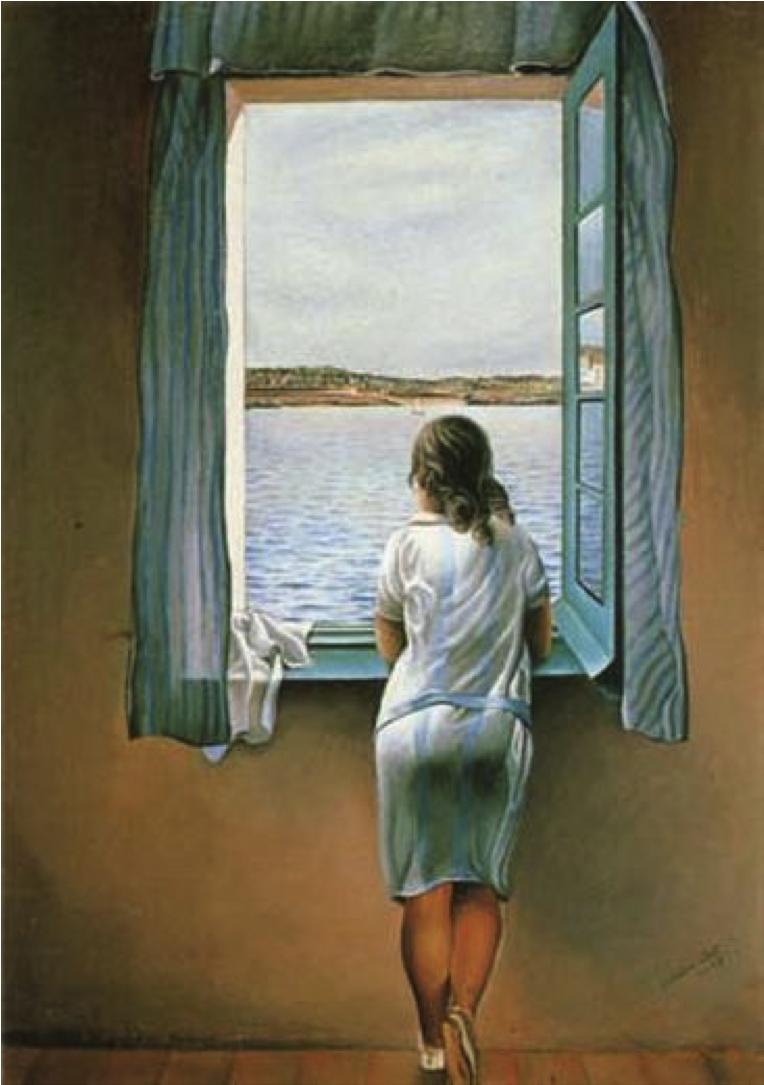 Tableau La jeune fille debout à la fenêtre de Salvador Dalí