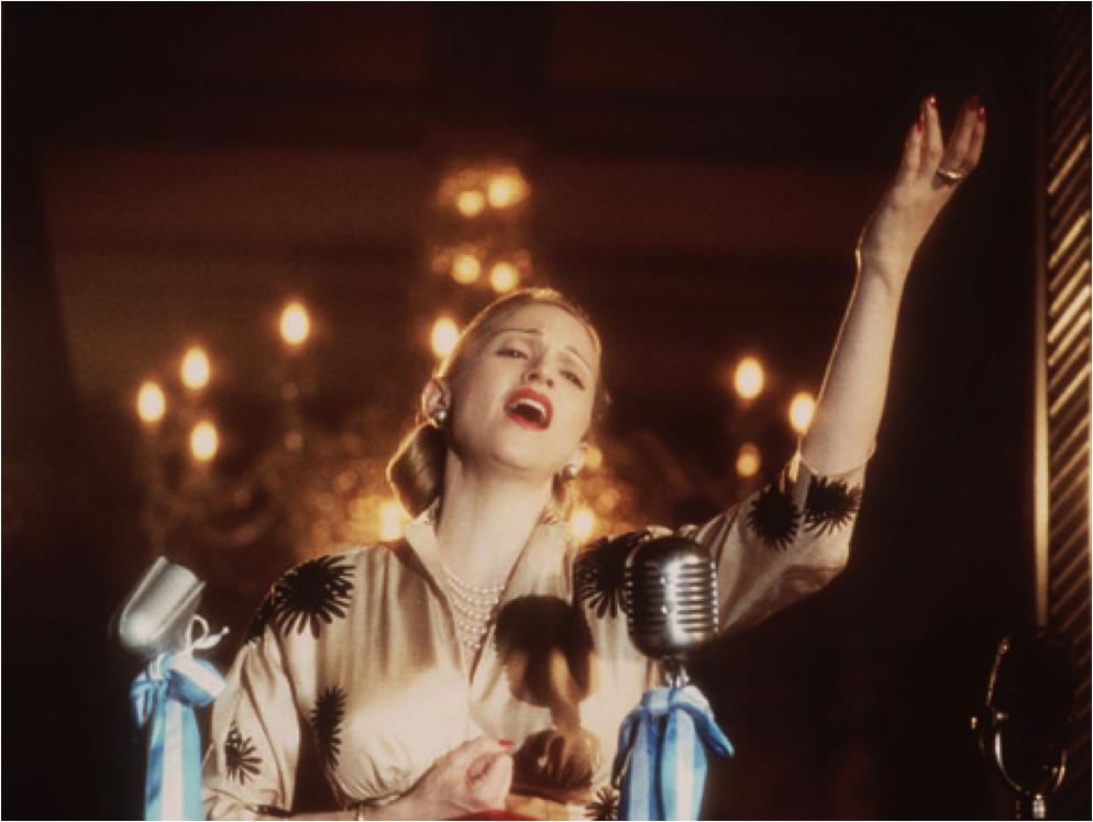"Madonna en Eva Peron dans le film ""Evita"" d'Alan Parker"