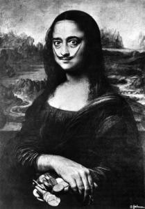 Le tableau Autoportrait à la Mona Lisa de Salvador Dalí