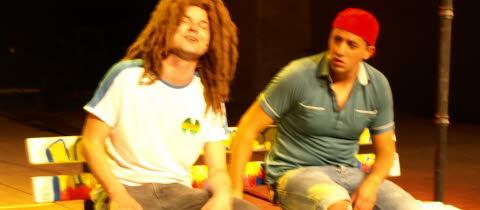 """Rastaman gay de la pièce """"Bang, Bang"""" des Lascars Gays"""