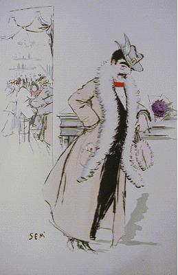 Caricature de Jean Lorrain