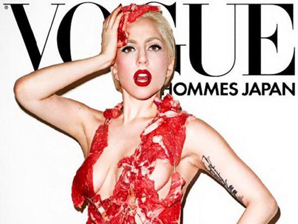Lady Gaga et sa robe en viande crue, qui a fait scandale.