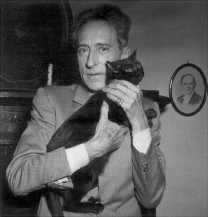 Jean Cocteau et son chat