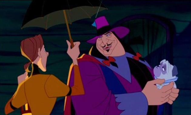 """Film d'animation """"Pocahontas"""" de Walt Disney (avec Ratcliffe et son toutou à sa mémère)"""