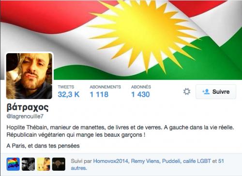 Compte Twitter du bobo homo homophobe type