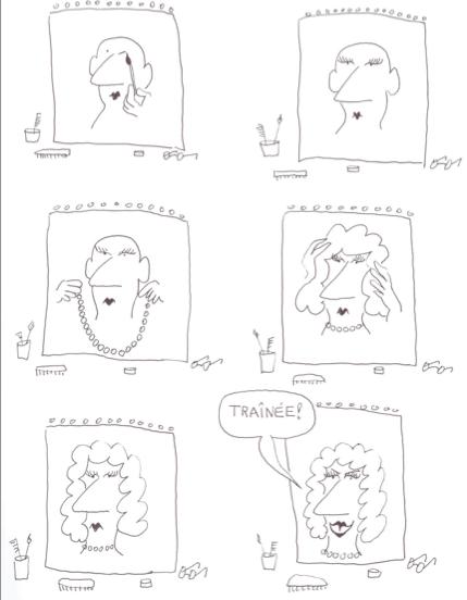 """Planche """"Le Miroir"""" de la B.D. """"Le Monde fantastique des gays"""" de Copi"""