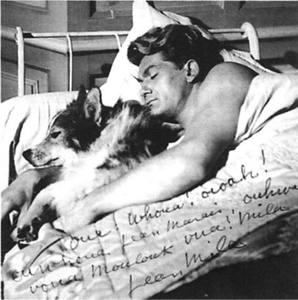 Jean Marais et son chien