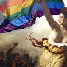 Delacroix revisité par l'arc-en-ciel...