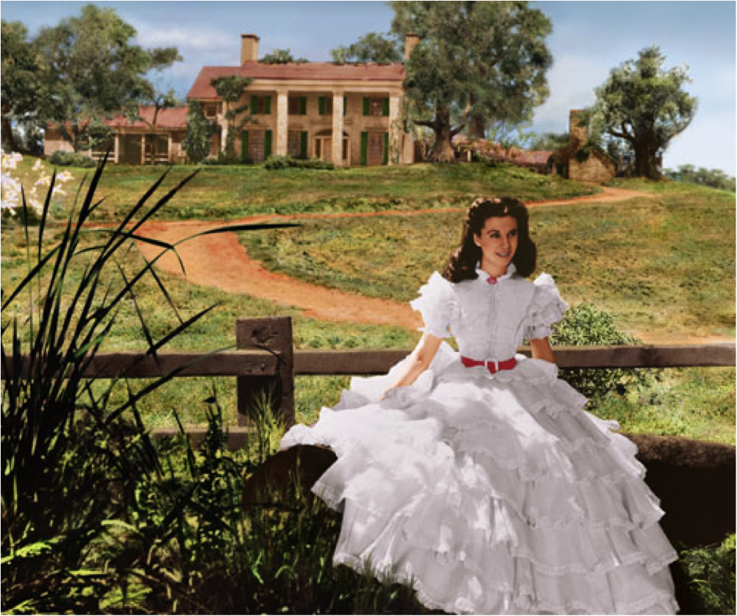 "La délicieuse peste Scarlett O'Hara dans le film ""Gone With The Wind"""