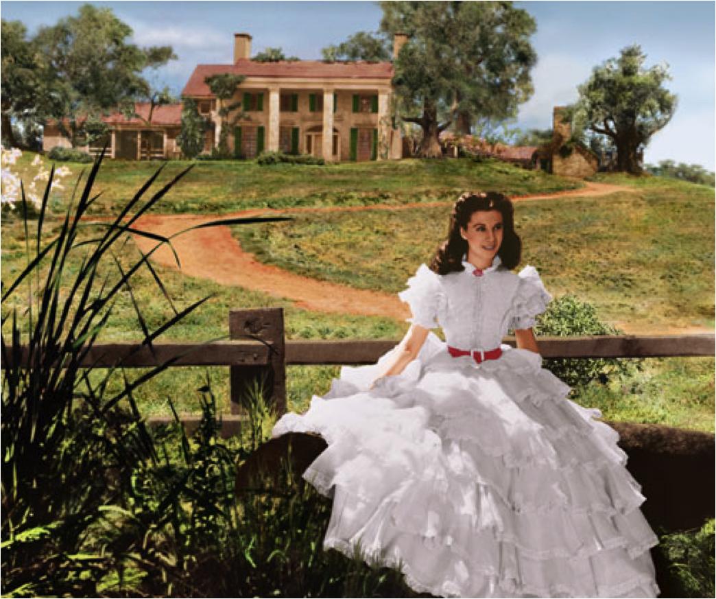 "La délicieuse peste Scarlett O'Hara dans le film ""Gone With The Wind"""