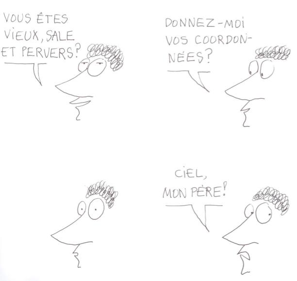 "B.D. ""Le Monde fantastique des gays"" (planche ""Minitel"") de Copi"