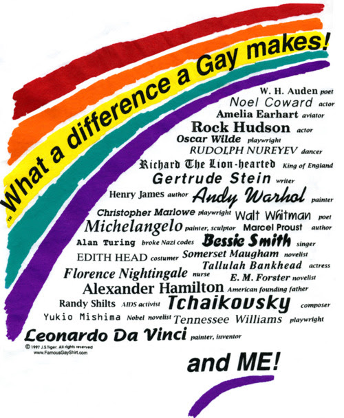 """What a difference a Gay makes"""