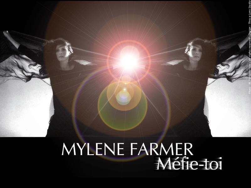 "Pochette du single ""Méfie-toi"" de Mylène Farmer"