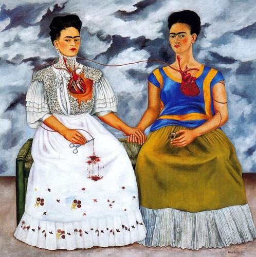 """Tableau """"Les deux Fridas"""" de Frida Kahlo"""