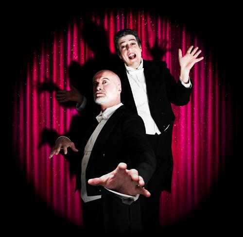 Jean-Luc Revol et Denis d'Arcangelo dans leur spectacle Les-2-G (2014)