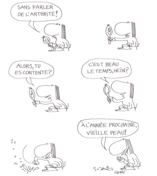 """B.D. """"Femme assise"""" de Copi"""