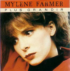 """Pochette du single """"Plus grandir"""" de Mylène Farmer"""