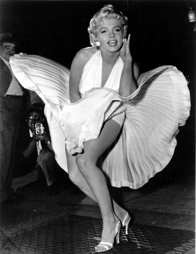 Marilyn Monroe passant sur une bouche d'aération