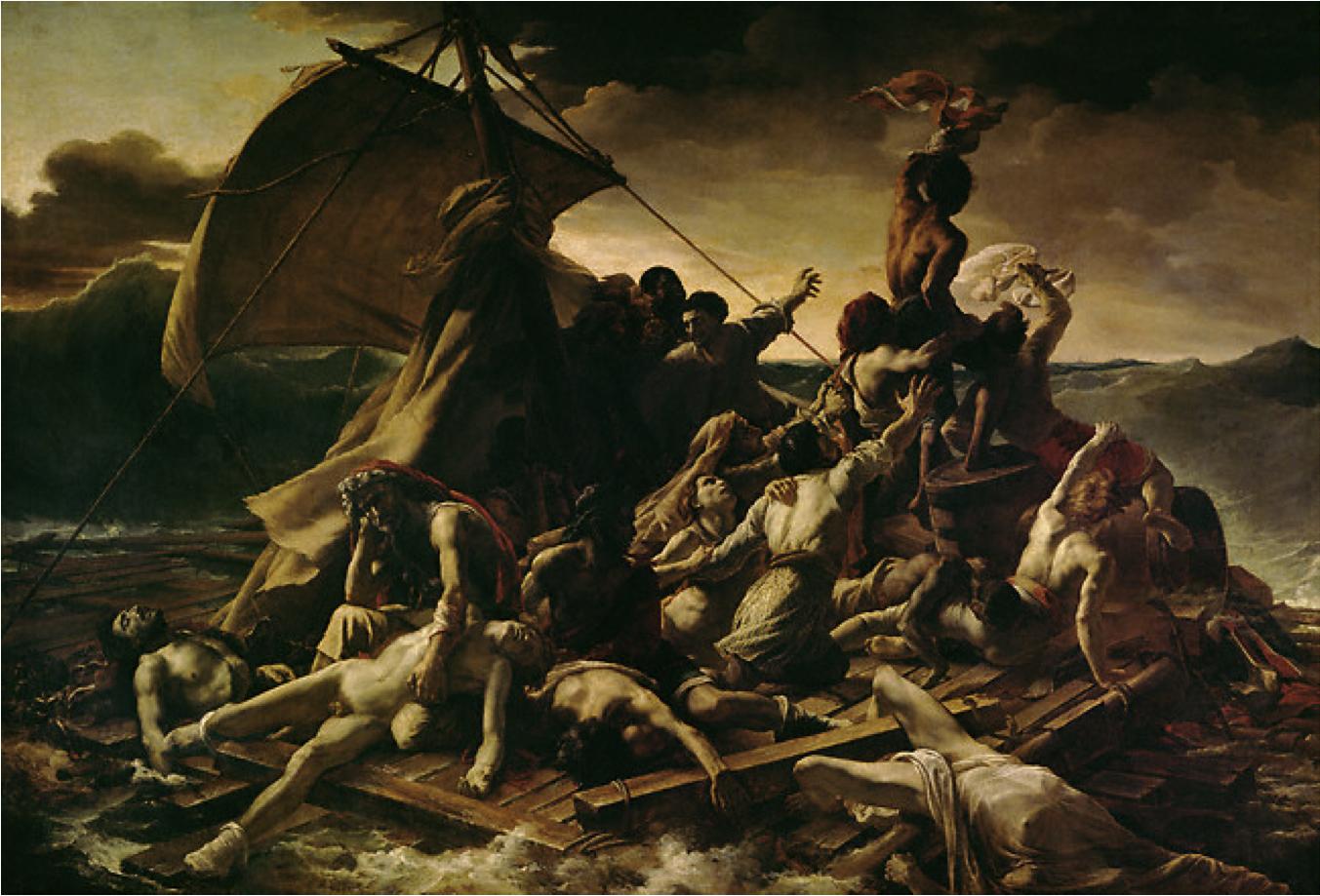 Le tableau Le Radeau de La Méduse de Théodore Géricault