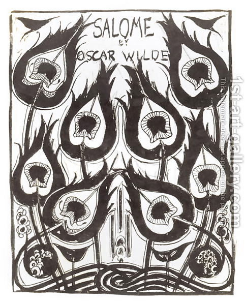 "Illustration d'Aubrey Beardsley pour ""Salomé"" d'Oscar Wilde : ""la Robe de Paon"""