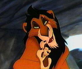 """Scar dans """"Le Roi Lion"""" de Walt Disney"""