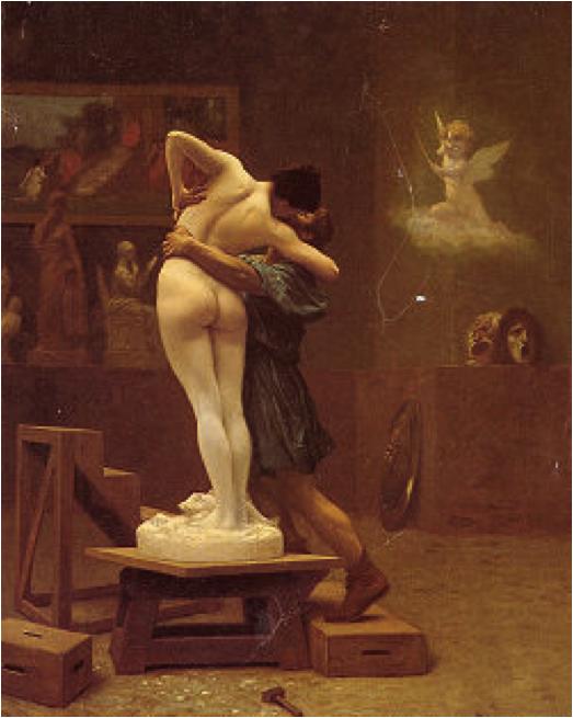"""Toile """"Pygmalion et Galatée"""" de Jean-Léon Gérôme"""