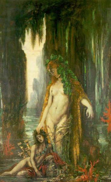"""Tableau """"Le Poète et la Sirène"""" de Gustave Moreau"""