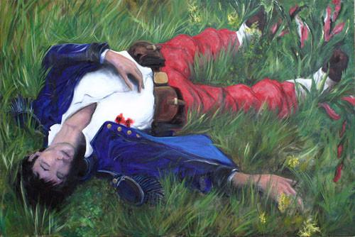 Tableau Le Dormeur du Val d'Olivier Bonnelarge