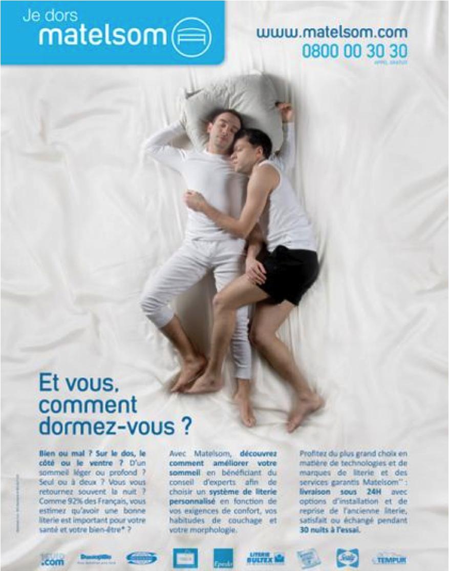 Publicité des matelas Matelsom