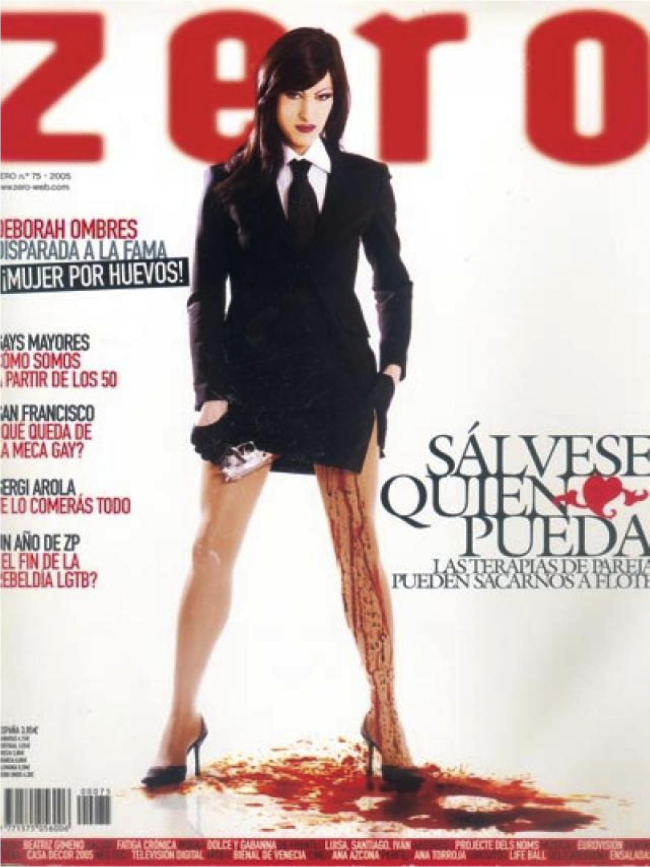 "Couverture d'un n° de la revue gay espagnole ""Zero"""