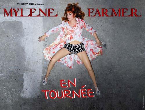 """Affiche Concert """"N°5"""" de Mylène Farmer au Stade de France, en 2009"""