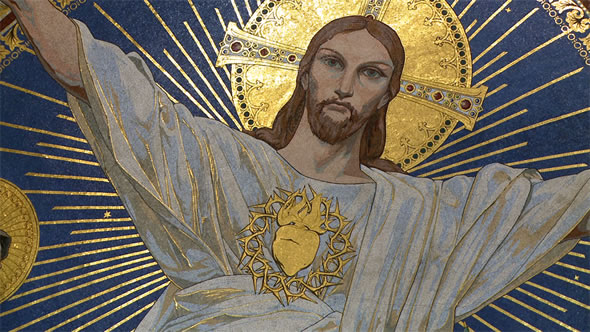 Christ à la basilique du Sacré-Coeur de Montmartre (Paris)