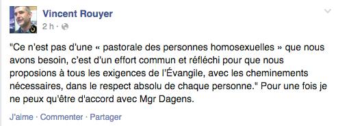 Post de Vincent Rouyer daté du 15 octobre 2014 sur Facebook