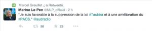 Tweet le 19 novembre 2014