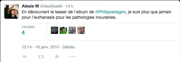 Tweet du 17 janvier 2015
