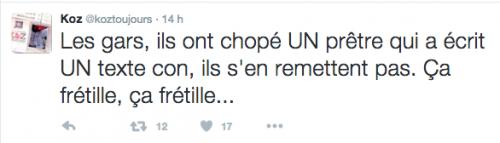 Koz Toujours le 23 novembre 2015 sur Twitter