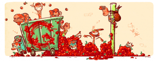Quenouille Tomatina
