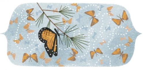 Quenouille papillon