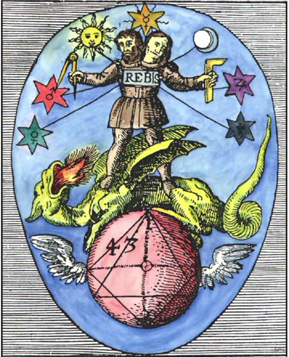 Le schéma maçonnique détournant la victoire de la Vierge sur le Dragon