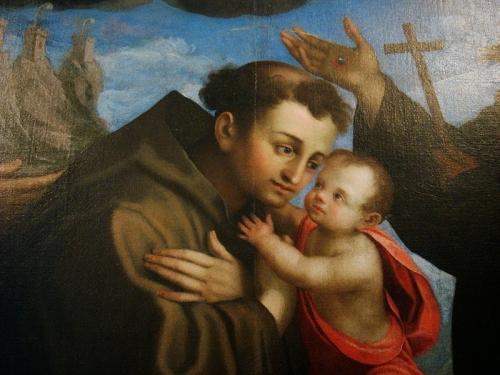 Saint Antoine et Jésus, par Urbinelli
