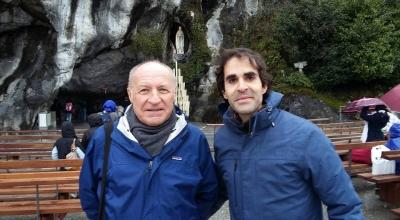 Père Michel Baute et moi