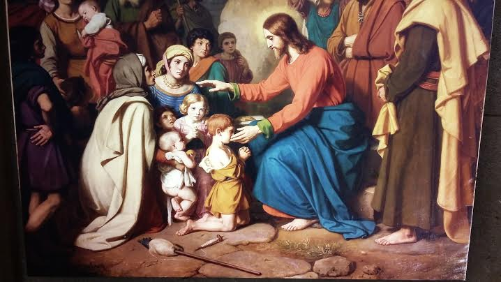 Toile Le Christ et les enfants