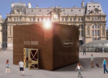 """Cube Häagen-Daz """"Style Inside"""" à la Gare Saint-Lazare à Paris"""