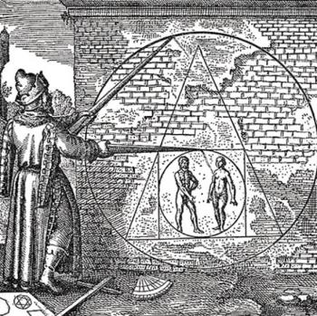 """Représentation de Dieu, le """"Grand Architecte"""", par les Francs-Maçons"""