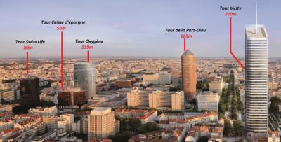 Le Quartier des Affaires à Lyon (Part-Dieu), top bobo et donc franc-maçon !