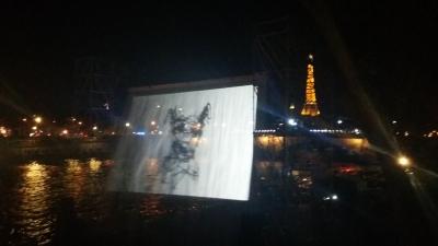 La Bête sur le rideau aquatique de La Nuit Blanche 2016
