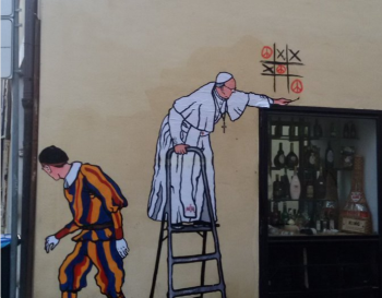 Le Pape François en Street Art