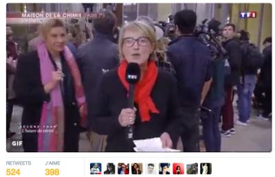 Dimanche dernier, Frigide Barjot – c'est plus fort qu'elle – voit une caméra de TF1 et la courtise au passage...